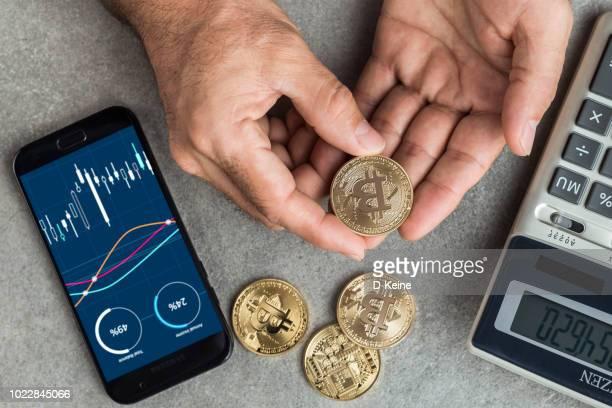 ビットコイン - 仮想通貨 ストックフォトと画像