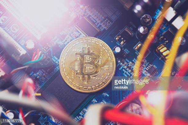 bitcoin - blockchain stockfoto's en -beelden