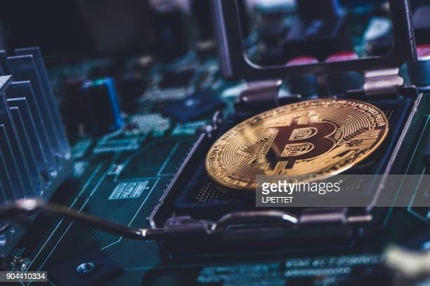 bitcoin - cryptocurrency mining stock pictures, royalty-free photos & images