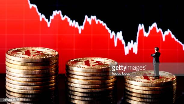 bitcoin - bank icon stock photos and pictures