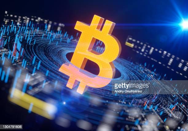 bitcoin sign circular data - 株価暴落 ストックフォトと画像