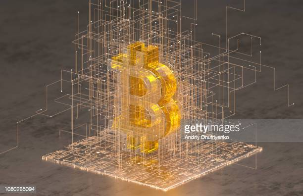 bitcoin sign - cryptocurrency mining stock pictures, royalty-free photos & images