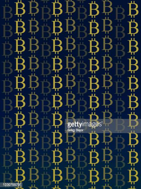 bitcoin signs - greg bajor stock pictures, royalty-free photos & images