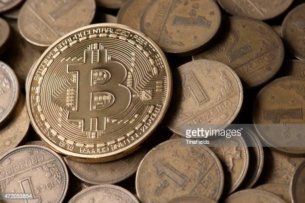 Bitcoin, virtual internet currency.