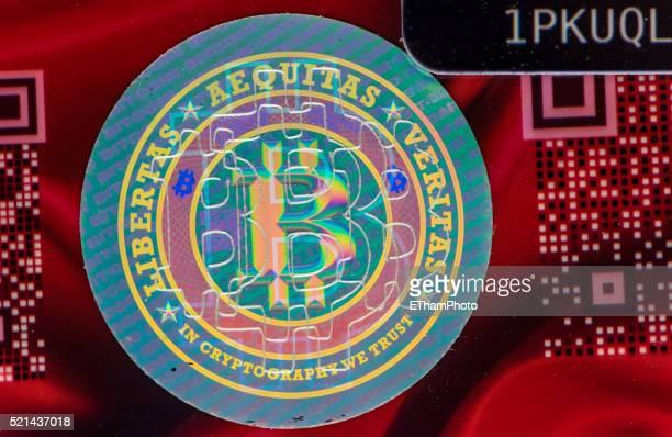 Bitcoin wallet card hologram