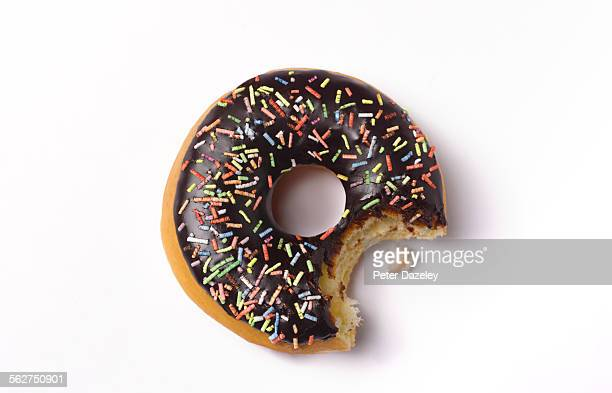 Bite out of doughnut
