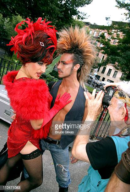 Bitelle and Eric Otte during Wigstock Festival 2005 at Tompkins Square Park in New York City, New York, United States.
