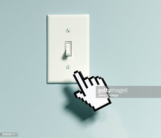 Bitmap Hand and Light Switch