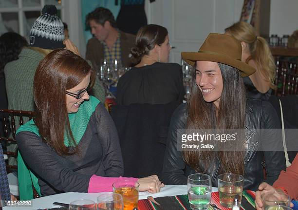 Bitsie Tulloch and Tasya Van Ree attend the I Heart Ronson Holiday Party at The Bungalow on December 11 2012 in Santa Monica California