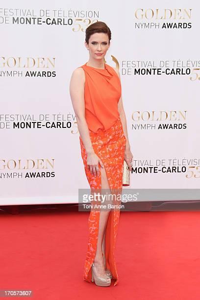 Bitsie Tulloch attends the closing ceremony of the 53rd Monte Carlo TV Festival on June 13 2013 in MonteCarlo Monaco