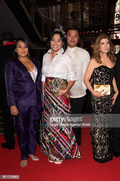 Bituin Escalante Hazel Orencio Popo Diaz and Pinky Amador attend the 'Season of the Devil' premiere during the 68th Berlinale International Film...