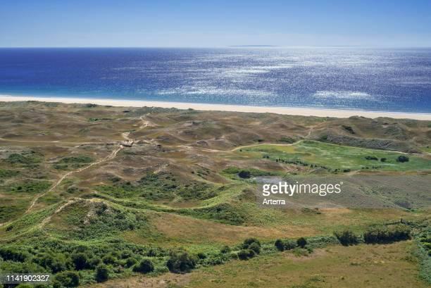 Biville dunes nature reserve near Vasteville and Heauville Cotentin La Hague Normandy France
