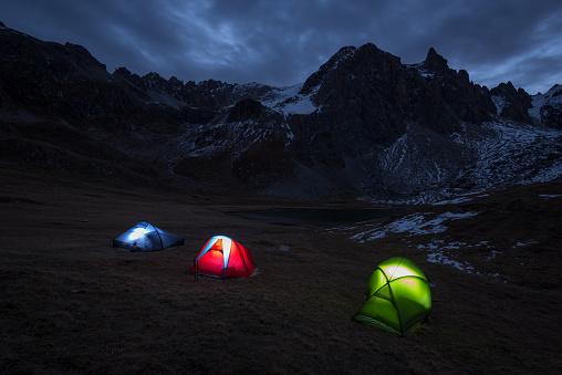 Bivouac after Trek in the Alps - gettyimageskorea