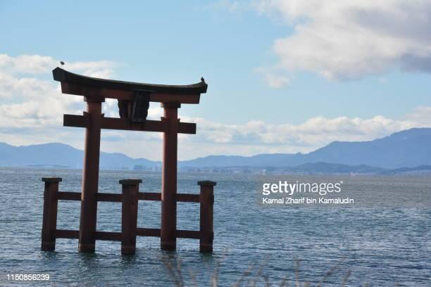 Biwa lake and temple