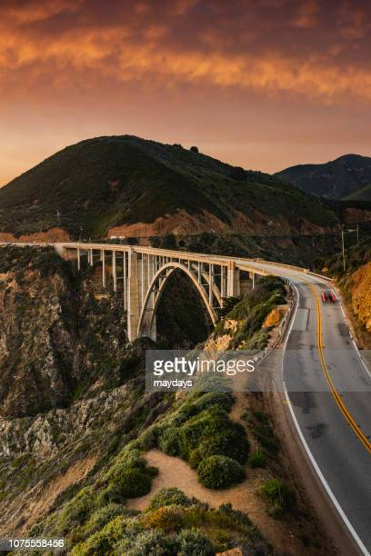 bixby bridge and big sur , california - monterrey stock pictures, royalty-free photos & images