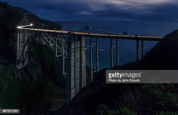 Bixby Bridge at Night