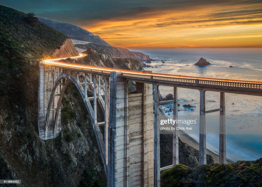 Bixby Bridge at Sunset - Big Sur, CA : Stock Photo