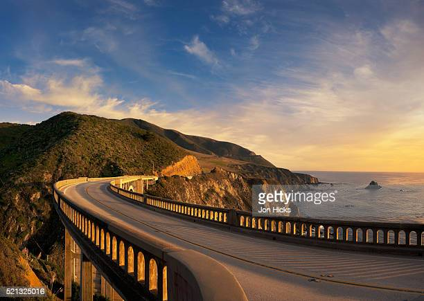Bixby Bridge at sunset.