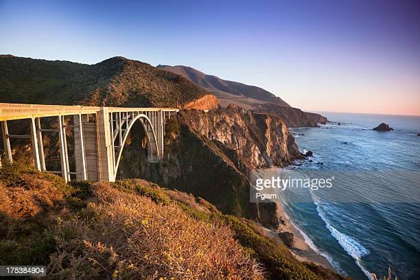 bixby bridge, big sur, california, usa - big sur stock photos and pictures