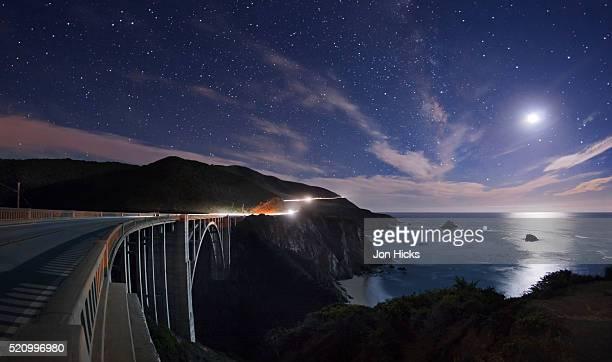 Bixby Bridge by moon light.