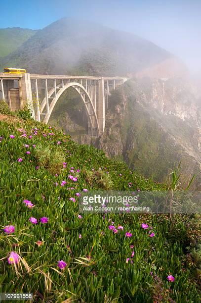 Bixby Bridge, Highway 1, California, United States of America, North America