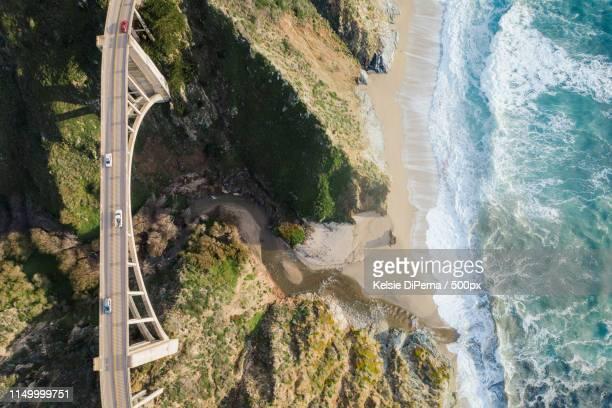 bixby bridge in big sur, california - big sur stock photos and pictures