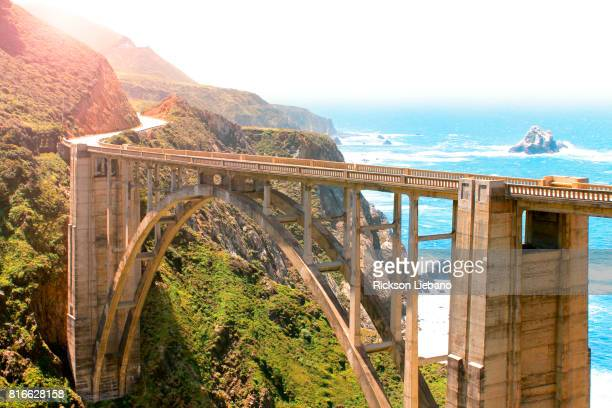 bixby bridge in big sur, california - monterrey fotografías e imágenes de stock