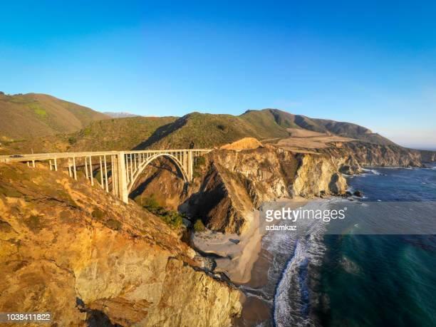 bixby bridge in monterey county california - bixby bridge stock photos and pictures