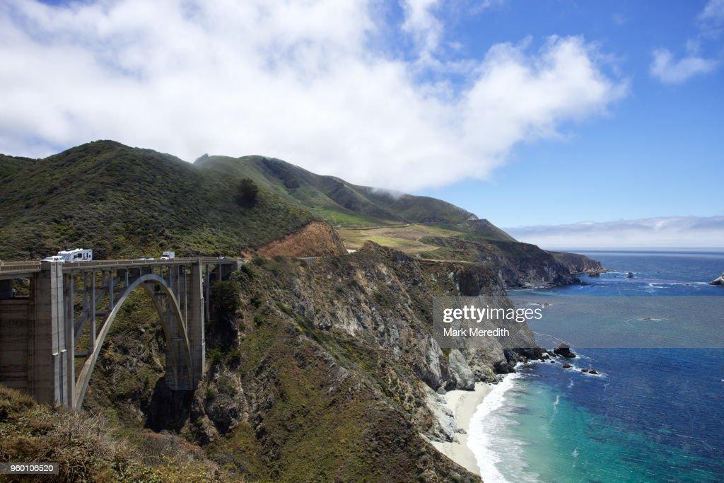 Bixby Bridge on the Pacific Coast Highway : Stock-Foto