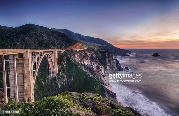 A bixby bridge sunset