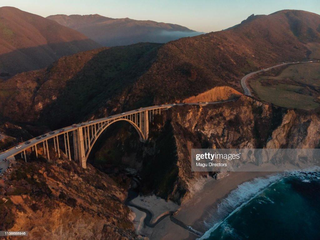 Bixby Creek Bridge at Big Sur Coastline, California, USA : Stock Photo