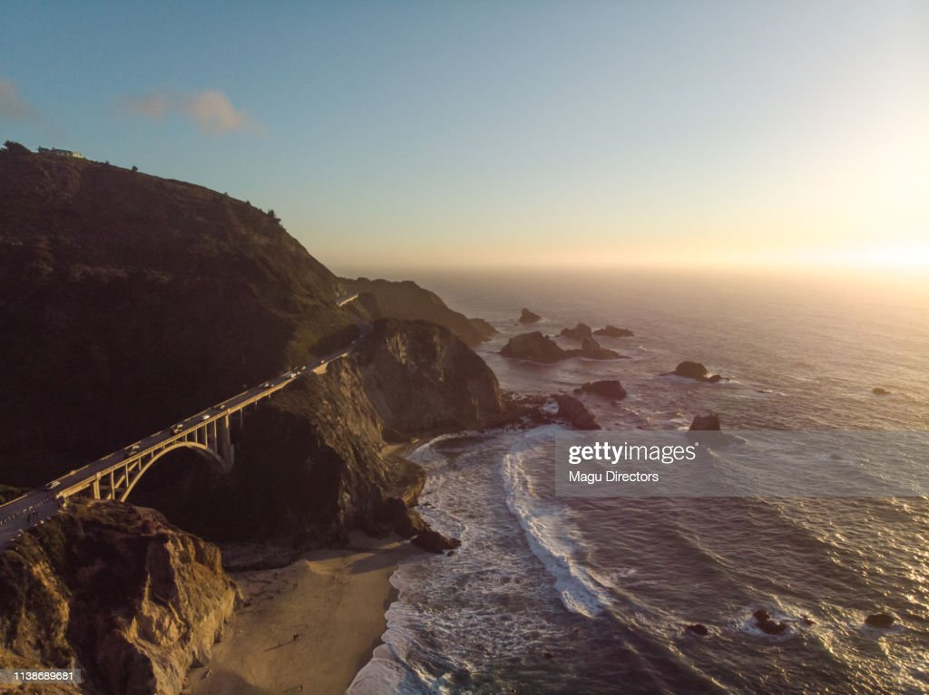Bixby Creek Bridge at Big Sur Coastline, California, USA : Stock Photo