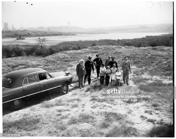 Bixby Slough investigation 13 September 1951 Lloyd Aldrich Milo Hollister Henry Evans Louis Malner CL Bell WA Miller Robert Mike ShanholtzerJimmy...