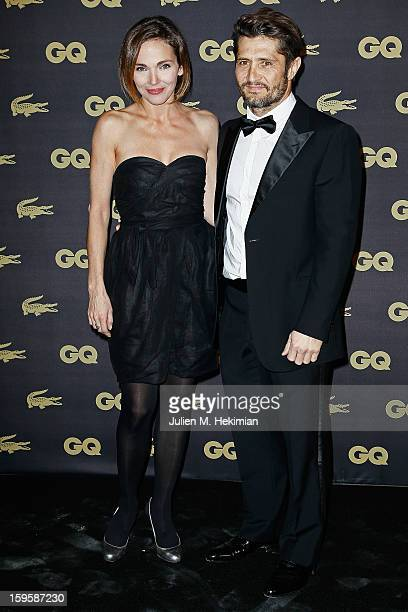 Bixente Lizarazu and Claire Keim attend GQ Men of the year awards 2012 at Musee d'Orsay on January 16 2013 in Paris France