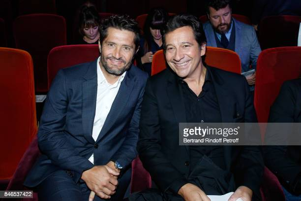 Bixente Lizarazu and Laurent Gerra attend the RTL RTL2 Fun Radio Press Conference to announce their TV Schedule for 2017/2018 at Elysee Biarritz at...