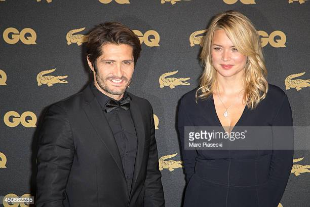 Bixente Lizarazu and Virginie Efira attend the 'GQ Men of the year awards 2013' at Museum d'Histoire Naturelle on November 20 2013 in Paris France