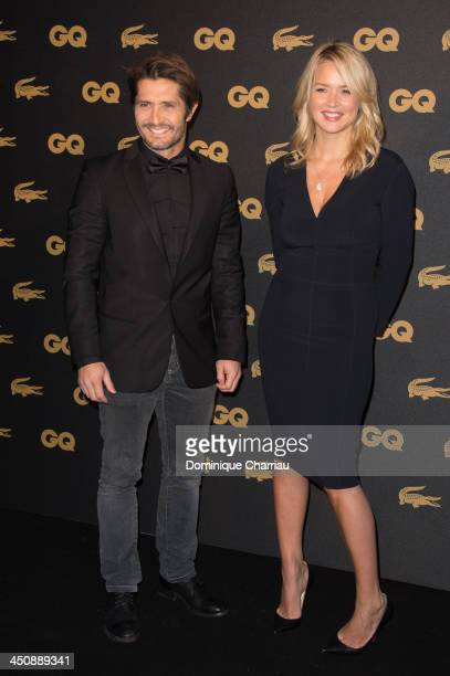 Bixente Lizarazu and Virginie Efira attend the GQ Men Of The Year Awards 2013 at Museum d'Histoire Naturelle on November 20 2013 in Paris France