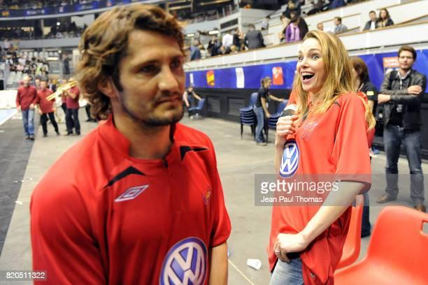 Bixente LIZARAZU / Claire KEIM - - Foot Concert 2009 - Evenement caritatif reunissant stars du football et de la chanson au profit de l association...