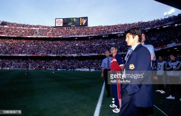 Bixente Lizarazu of Bayern Munich before the UEFA Champions league final match between Manchester United and Bayern Munich on May 26 1999 in Camp Nou...