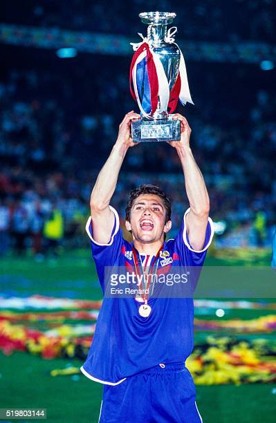 Bixente LIZARAZU of France after the final of the Football European Championships between France and Italy in Rotterdam, Netherlands on July 02, 2000