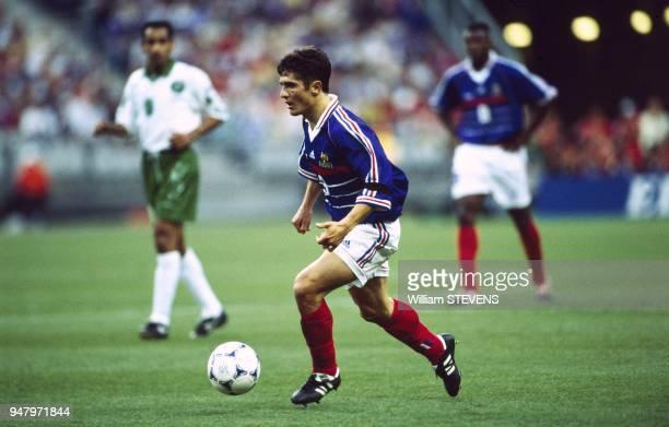 Bixente Lizarazu pendant le match FranceArabie Saoudite du Mondial 98 au Stade de France le 18 juin 1998 a SaintDenis France