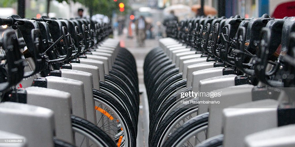 Bixi station located downtown Montréal, Qc - Canad : Stock Photo