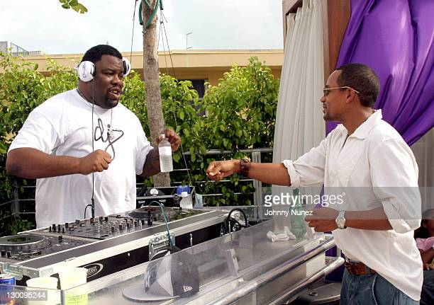DJ Biz Markie and Hill Harper during 2005 MTV VMA John Singelton Party Hosted by DJ Biz Markie and Snoop Dogg at Sanctuary Hotel in Miami Florida...