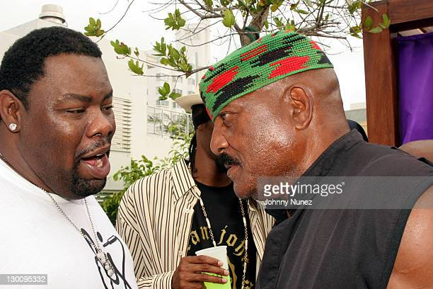 DJ Biz Markie and Jim Brown during 2005 MTV VMA John Singelton Party Hosted by DJ Biz Markie and Snoop Dogg at Sanctuary Hotel in Miami Florida...