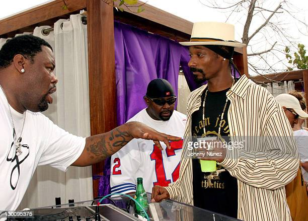 DJ Biz Markie and Snoop Dogg during 2005 MTV VMA John Singelton Party Hosted by DJ Biz Markie and Snoop Dogg at Sanctuary Hotel in Miami Florida...