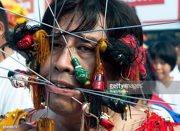 Bizarre andExtreme- Voodoo In Trance - scenes at the Vegetarian festival in Phuket, Thailand.