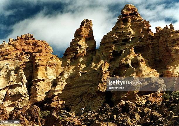 Bizarre Felsformation am Vulkan Teide - 1996