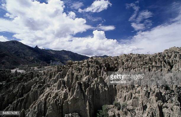Bizarre Felslandschaft im Valle deLuna 1998felsformation felsen