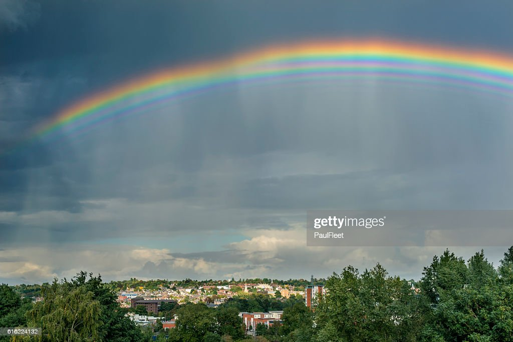Bizarre Multiple Rainbow : Stock Photo