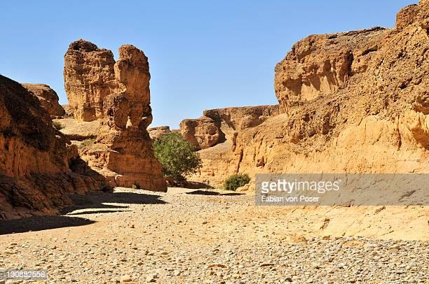 bizarre rock formation in the sesriem canyon, namib desert, namib-naukluft national park, namibia, africa - セスリエム ストックフォトと画像